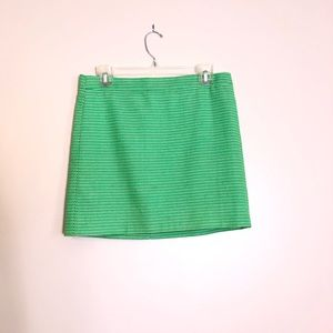 J. Crew Green Mini Skirt